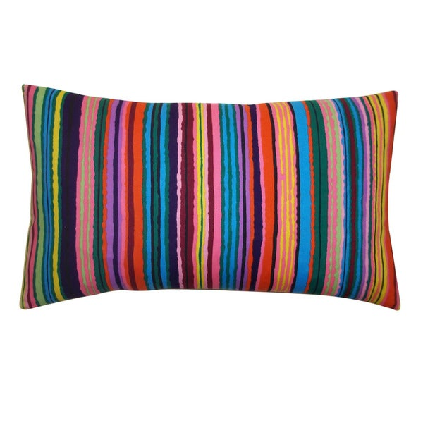 Jiti 'Strokes' Multicolored 12-inch x 20-inch Pillow