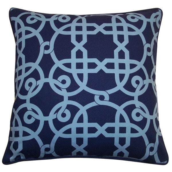Jiti 'Web' Blue 20-inch Pillow