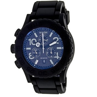 Nixon Men's Rubber Chrono Watch
