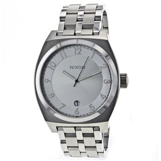 Nixon Men's Silver Monopoly Watch