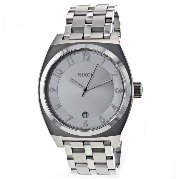 Nixon Men's Silver Monopoly Watch