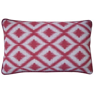 Jiti Pillows 'California' Red 12-inch x 20-inch Pillow