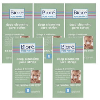 Biore� Deep Cleansing 8-count Pore Strips (Pack of 5)
