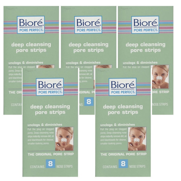 Biore® Deep Cleansing 8-count Pore Strips (Pack of 5)