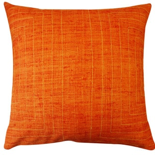 Jiti 'California' Orange 20-inch Pillow