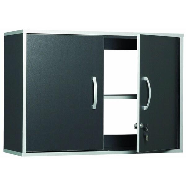 Talon Garage 2-Door Charcoal Stipple Wall Cabinet