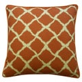 Jiti 'Fish Nets' Orange 20-inch Pillow