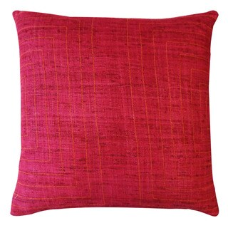 Jiti 'Streams' Maroon 20-inch Pillow
