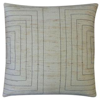 Jiti 'Streams' Natural 20-inch Pillow