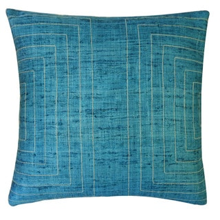 Jiti 'Streams' Aqua 20-inch Pillow