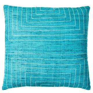Jiti 'Streams' Aqua 20-inch Pillow