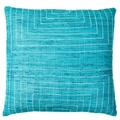 Jiti Pillows 'Streams' Aqua 20-inch Pillow