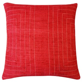 Jiti 'Streams' Red 20-inch Pillow