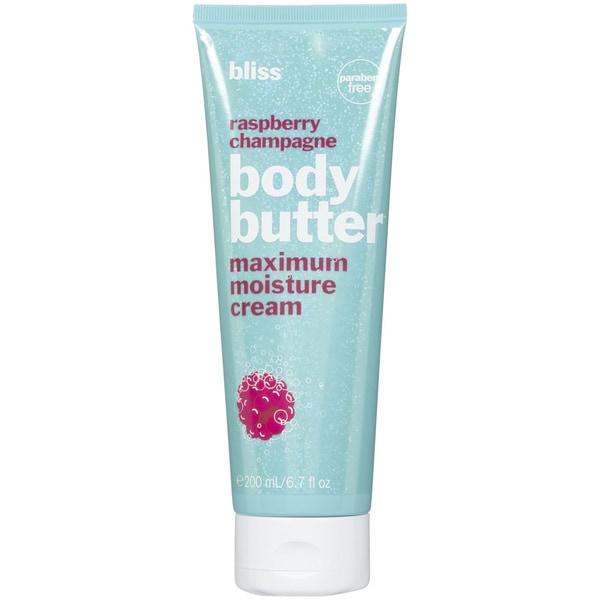 Bliss Raspberry Champagne Body Butter 6.7-ounce Maximum Moisture Cream