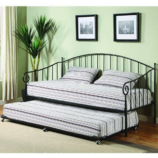 K&B BT01 Black Finish Day Bed