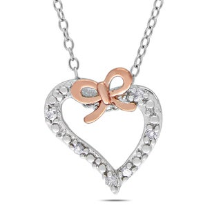 Miadora Diamond Heart Necklace (I-J, I2-I3)