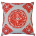 Jiti 'Medallion' Orange 20-inch Pillow