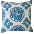 Jiti Pillows 'Medallion' Teal 24-inch Pillow