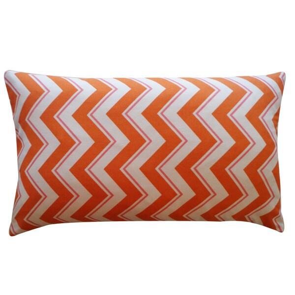 Jiti 'Alberta' Orange 12 x 20-inch Down Pillow