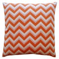 Jiti 'Alberta' Orange 20-inch Pillow