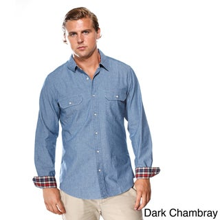 White Picket Fence Men's 'Linden' Long Sleeve Woven Shirt