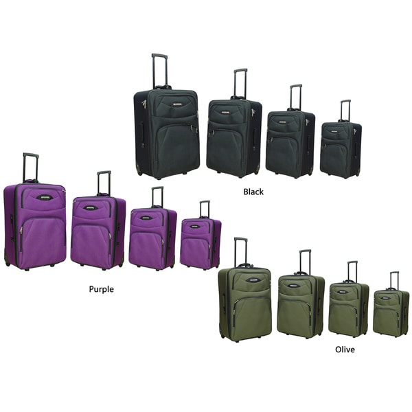Hercules Montreal 4-piece Expandable Luggage Set