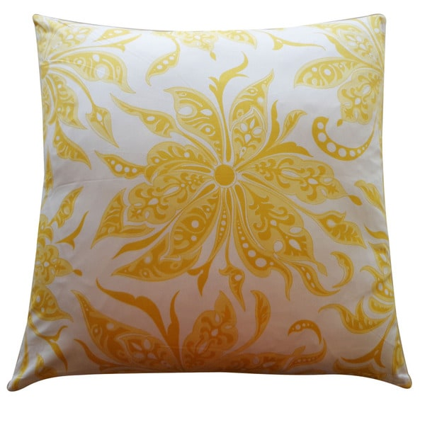 Jiti 'Flucci' Yellow 26-inch Pillow