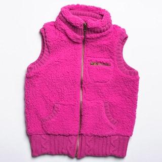 CoffeeShop Kids Girls Fuchsia Sherpa Vest