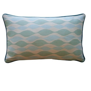 Jiti Pillows 'Dylan' Aqua 12-inch x 20-inch Pillow