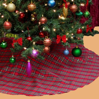 Plaid Holiday Theme Christmas Tree Skirt