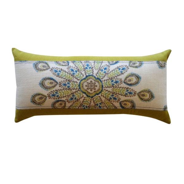 Jiti 'Real' Teal 12-inch x 23-inch Pillow