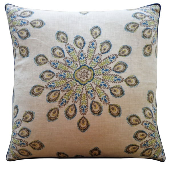 Jiti 'Real' Teal 26-inch Pillow