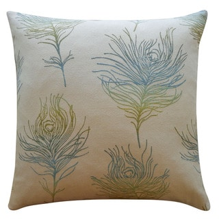 Jiti 'Feather Positive' Green 20-inch Pillow