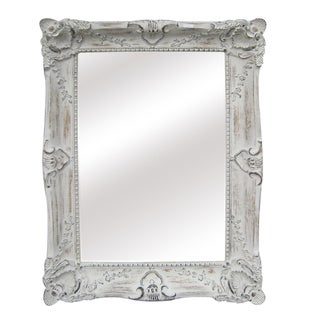 Antique White Traditional Rectangular 30-inch Wall Mirror