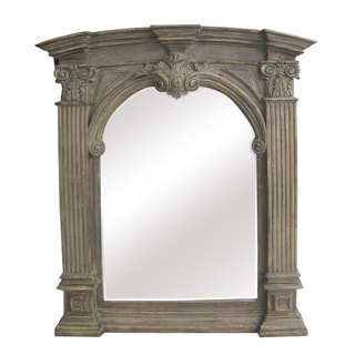 Antique Wood Traditional Arch 30-inch Wall Mirror