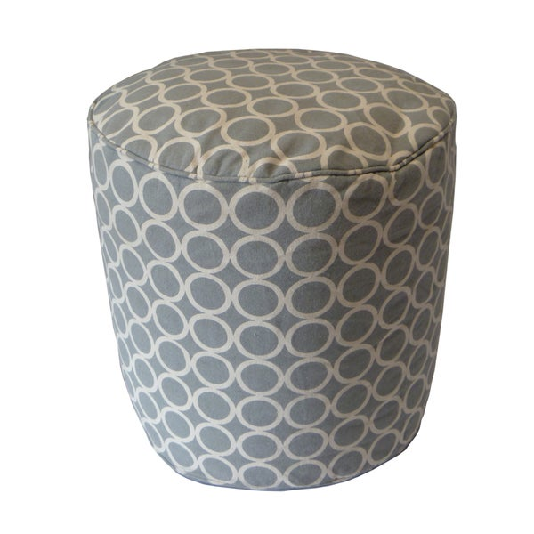 Canvas Life Saver Grey Ottoman