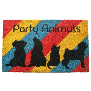 Party Animals Coir Doormat