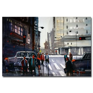 Ryan Radke 'Busy City - Chicago' Canvas Art