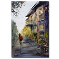 Ryan Radke 'Cedarburg Shadows' Canvas Art