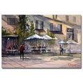 Ryan Radke 'Dining Alfresco' Canvas Art