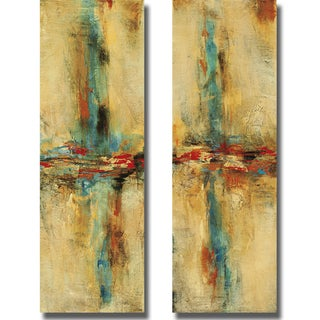 Nancy Santos 'Equilibrio I and II' 2-piece Canvas Art Set