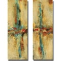 Nancy Santos &#39;Equilibrio I and II&#39; 2-piece Canvas Art Set