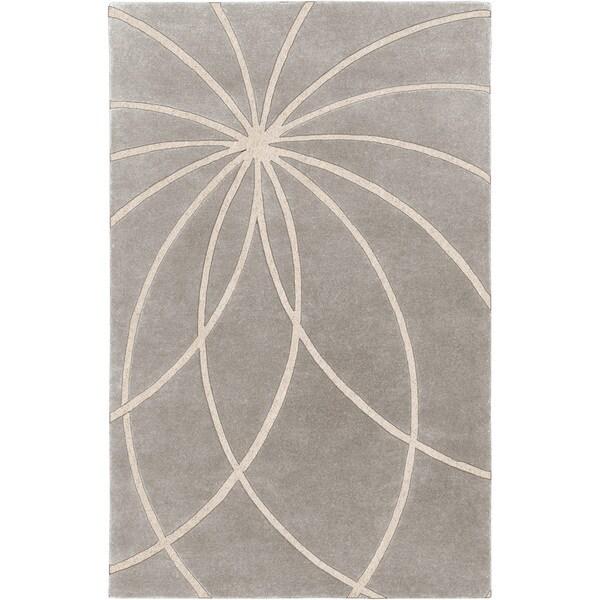 Hand-tufted Celica Bay Leaf Floral Wool Rug (8' x 11')