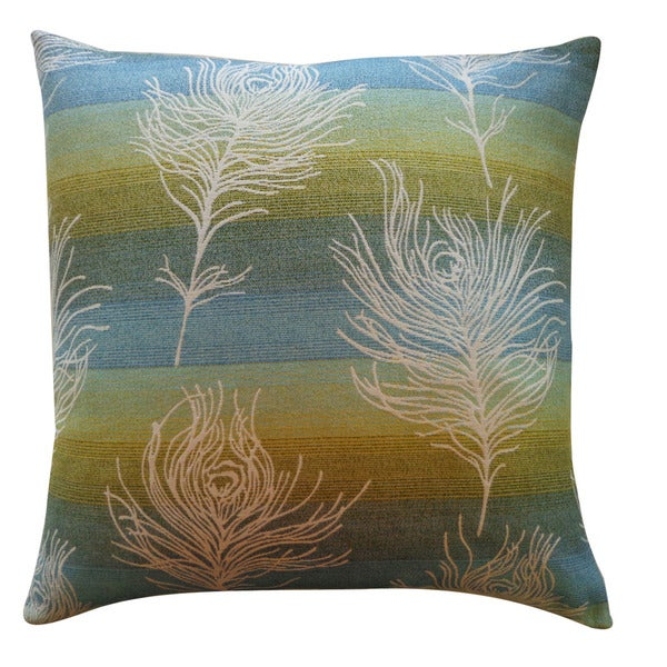 Jiti 'Feather Negative' Green 20-inch Pillow