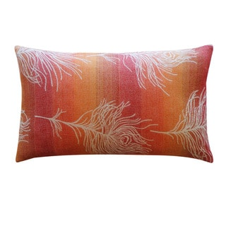 Jiti 'Feather Negative' Orange 12-inch x 20-inch Pillow