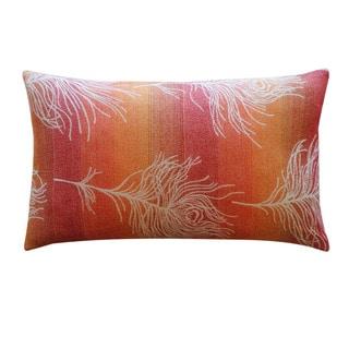 Jiti 'Feather Negative' Orange 12-inch x 20-inch Pillow