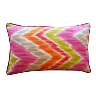 Jiti Pillows 'Mountain' Pink 12-inch x 20-inch Pillow