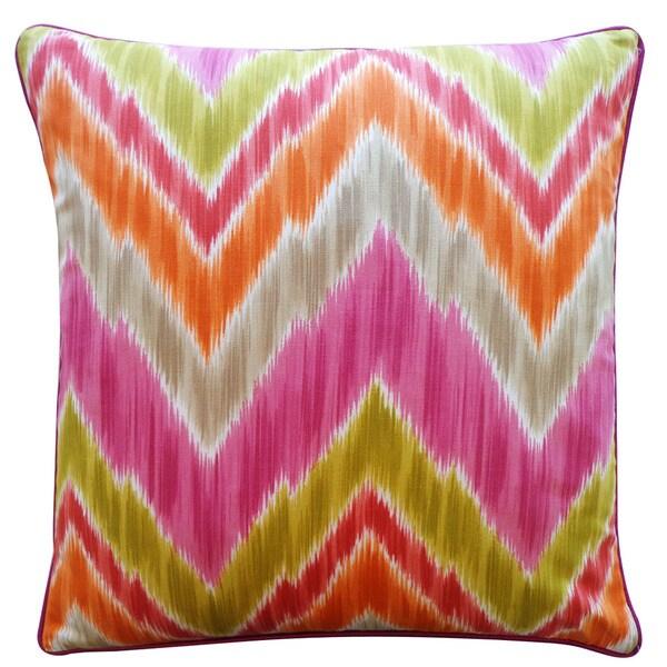 Jiti 'Mountain' Pink 20-inch Pillow