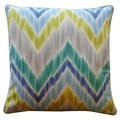 Jiti 'Mountain' Aqua 20-inch x 20-inch Pillow