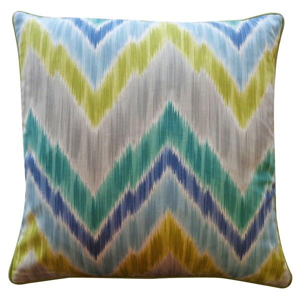 Jiti 'Mountain' Aqua 20-inch x 20-inch Pillow